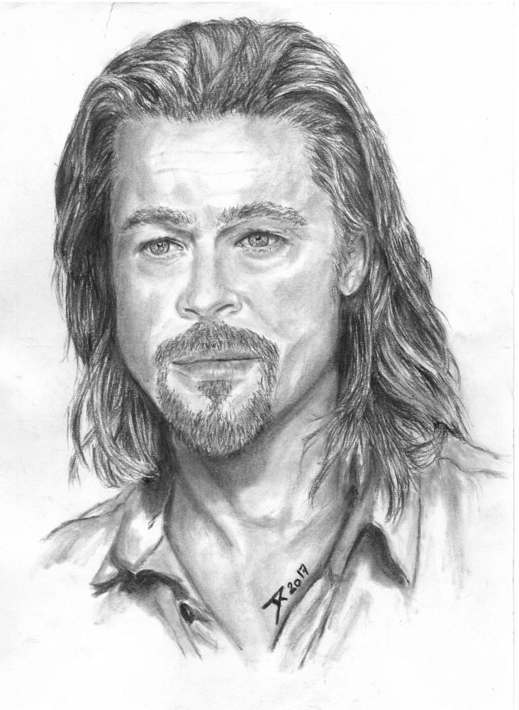 Brad Pitt by DamienRollee